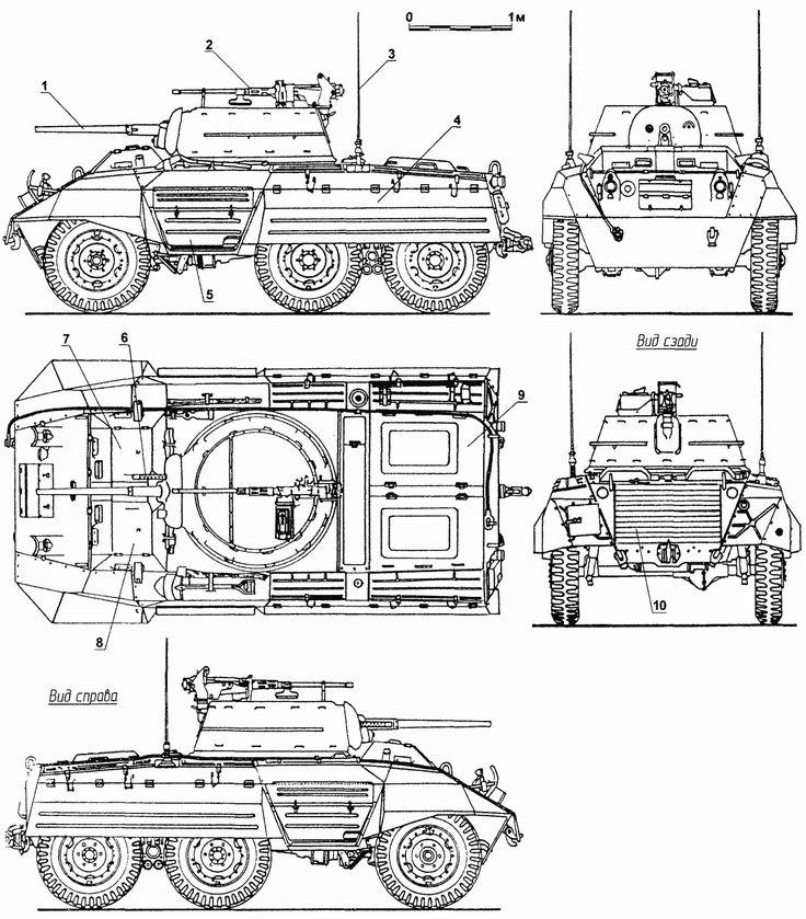 M8 Greyhound Blueprint