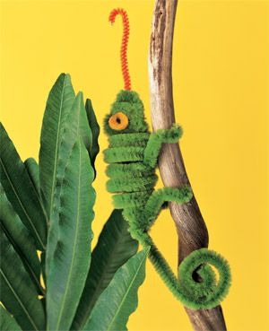 Crafts 4 Camp: Pipe Cleaner Chameleon