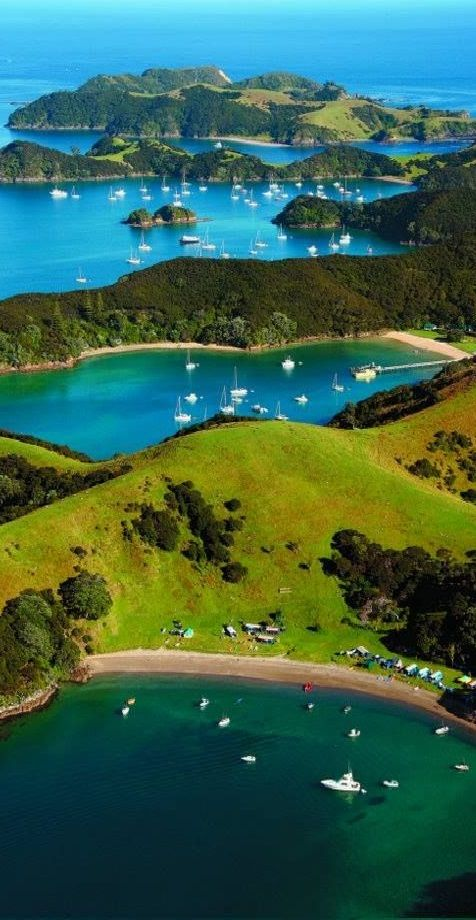 Campground - Urupukapuka Island, NZ