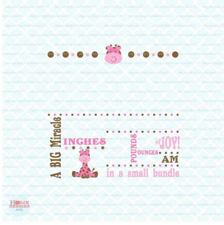 Birth Announcement Svg Baby Svg Template Svg Big Miracle