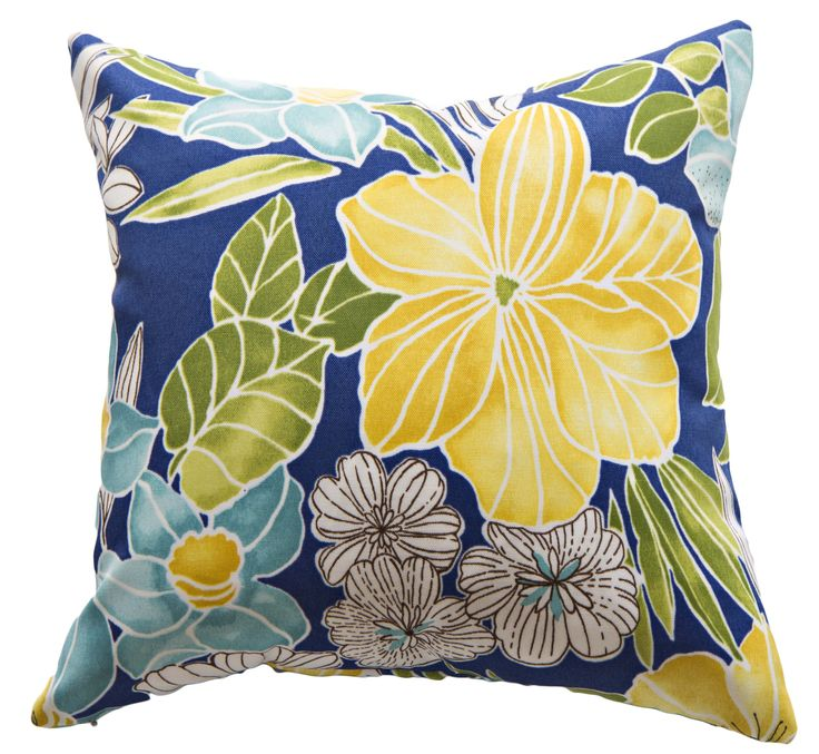 Tropical flower cushion cover | hardtofind.