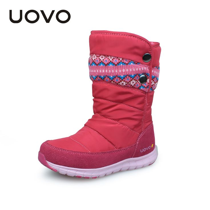 <January's Offer! Click Image to Buy!> UOVO   newest girls boots oxford cloth kids boots girls winter shoes velcro button childredn shoes girls boots -- Detailed information can be found on  AliExpress.com. Just click the image