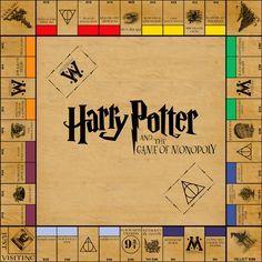 Harry Potter Monopoly by funkblast