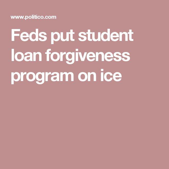 Feds put student loan forgiveness program on ice