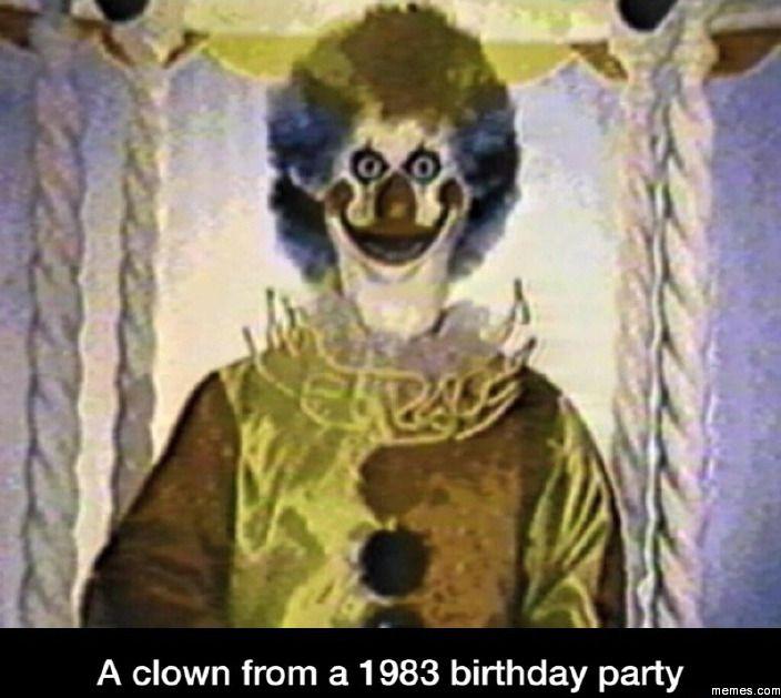 Scary clown | Memes.com
