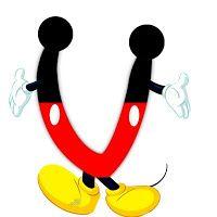 Original alfabeto inspirado en Mickey Mouse.