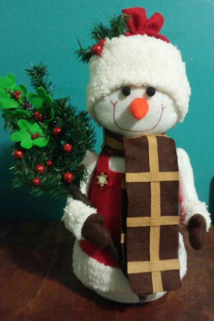 Muñeco de nieve galán #navidad #fieltro #echoamano #hiloyaguja