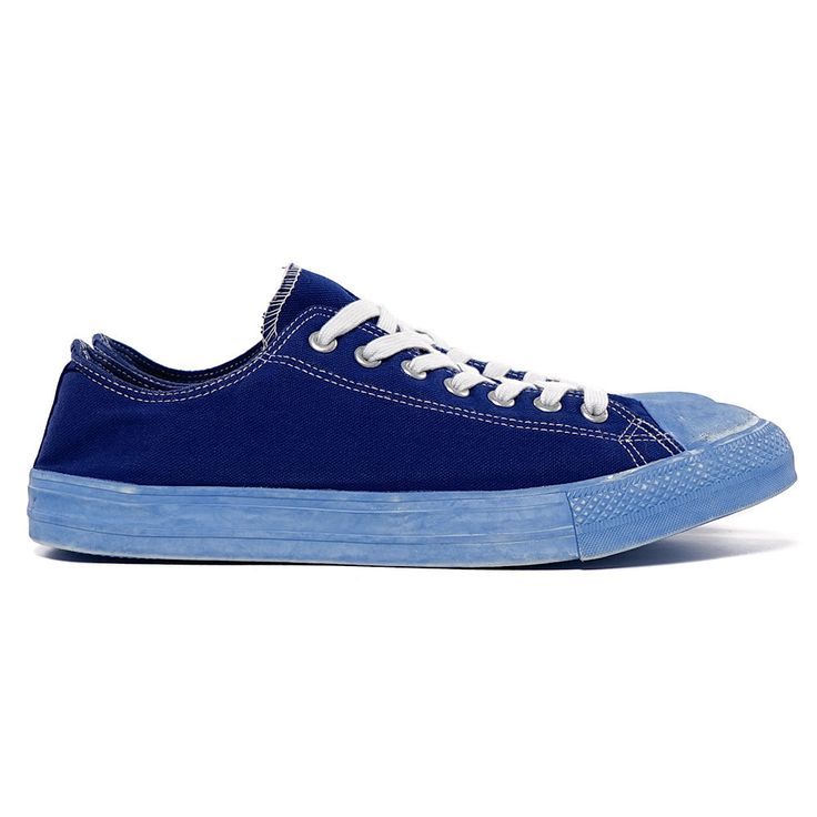 Dyed Cotton Canvas Sneaker Navy