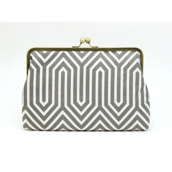 Gray White Clutch {Marni Clutch (59 CAD) via Polyvore featuring bags, handbags, clutches, clasp purse, marni purse, marni handbags, clasp handbag and white purse