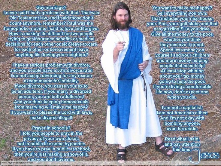 A satire BUT the way Jesus lived!