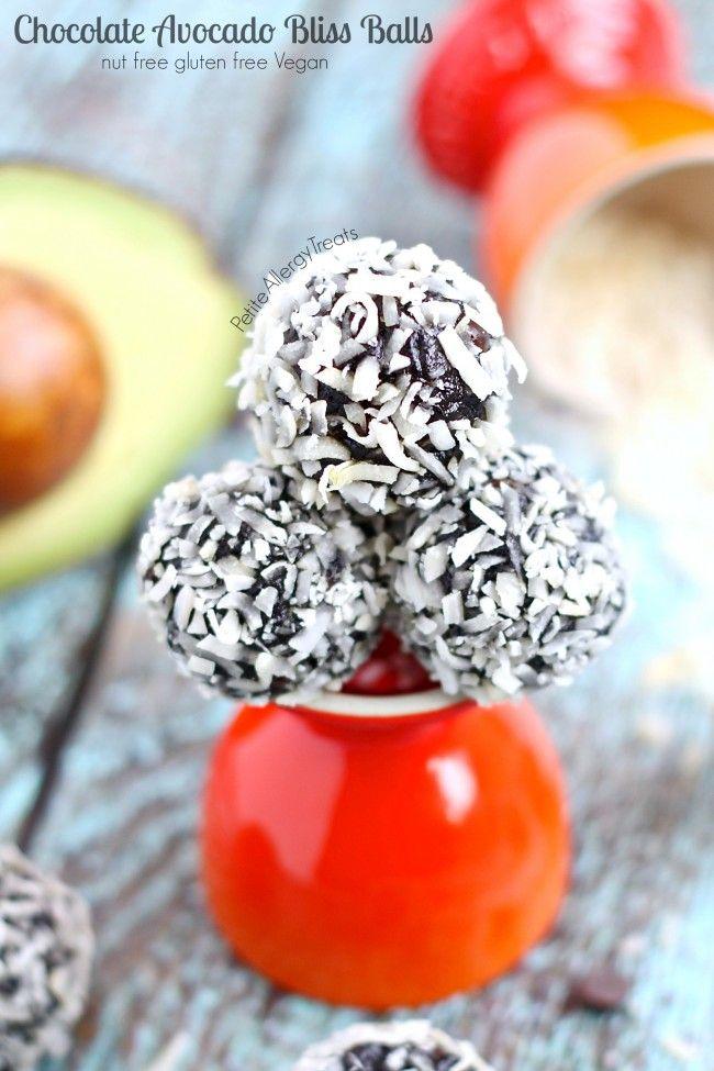 Chocolate Avocado Truffle Bliss Balls recipe (vegan) - Healthy raw chocolate energy balls made avocado and seed butter.