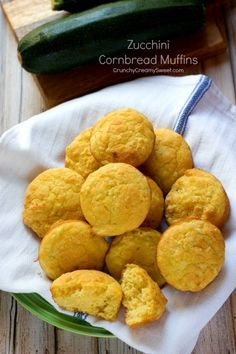 Zucchini Cornbread Muffins - fun and easy way to sneak in veggies into your diet! Our favorite cornbread muffin with the addition of zucchini is perfect this time of year! #zucchini #cornbread #muffins