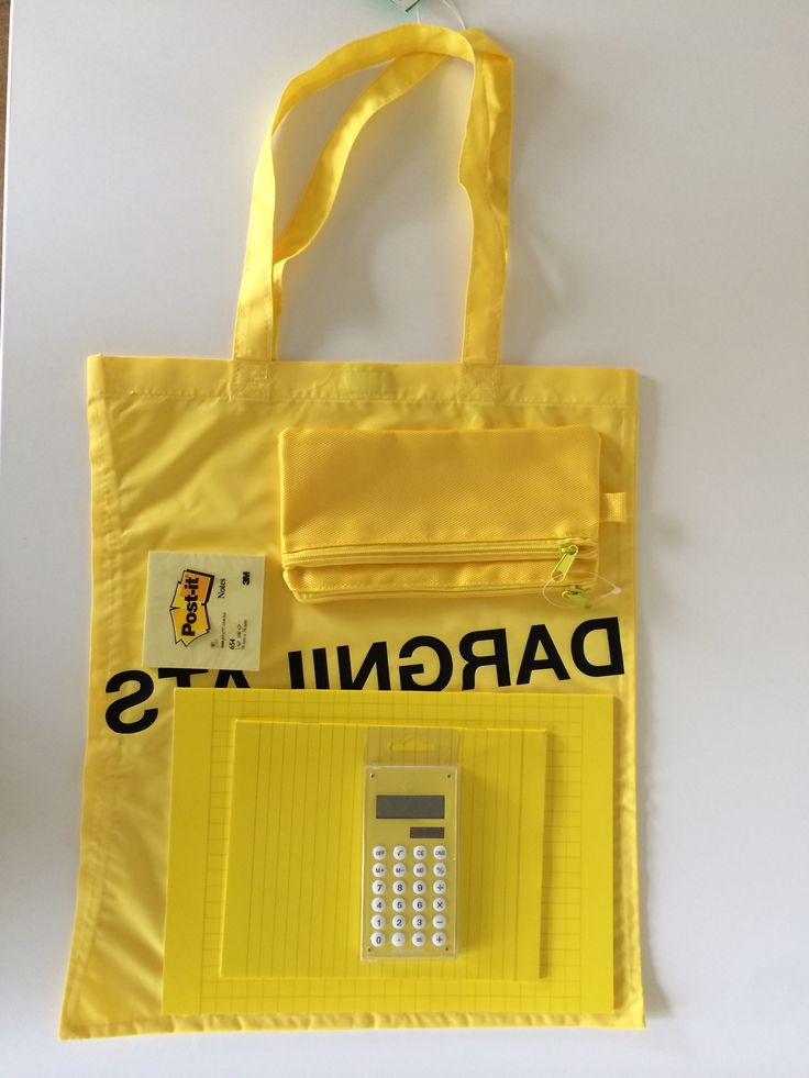 Yellow Goodie Bag for Vincent Wielders