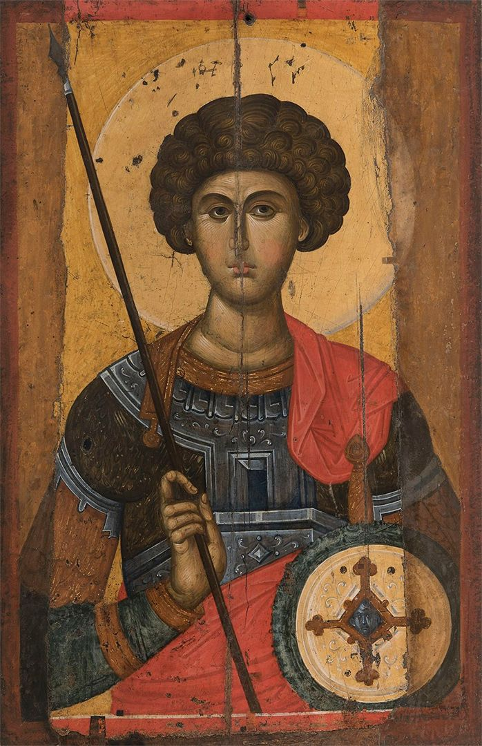 Icon depicting Saint George; The middle of the 14th century, Byzantium; Wood, gesso, tempera; Byzantine and Christian Museum, Athens
