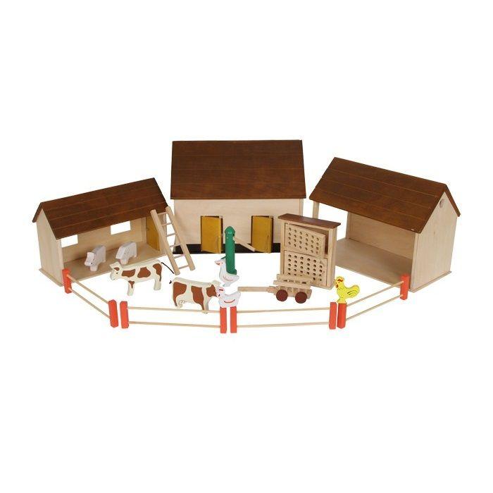 Granja de juguete de #madera #educacion #niños