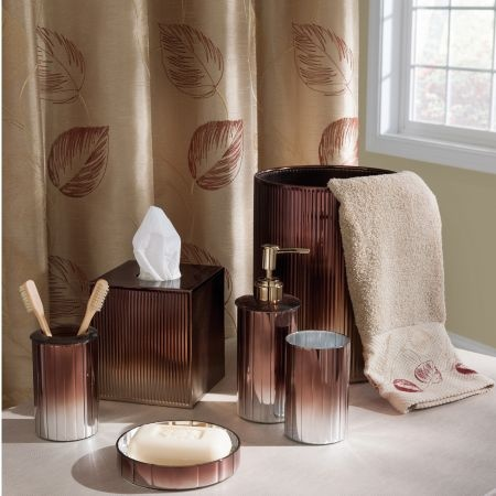 croscill meridian bath collection tailored fluted glass