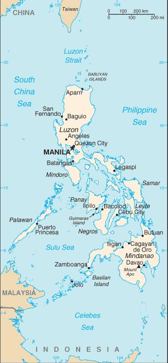 Country Maps: Map of the Philippines