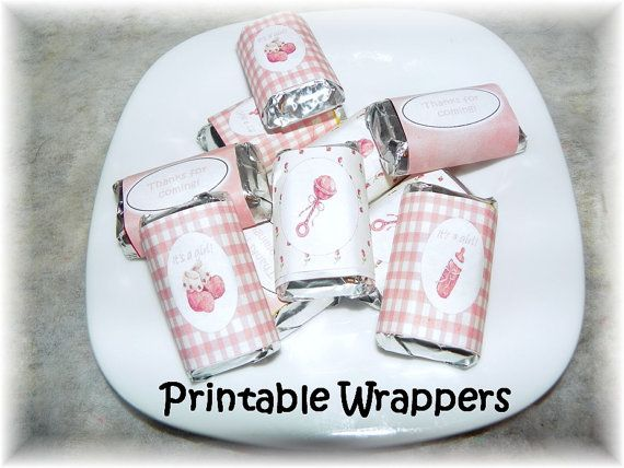 Printable Baby Girl Show Mini Hershey Candy Wrappers Diy