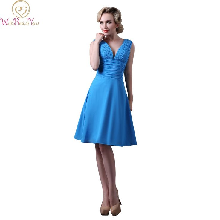 >> Click to Buy << Walk Beside You Real Picture Wedding Bridesmaid Dresses under $50 Blue Party vestido dama de honra adulto Cheap Summer Dress #Affiliate