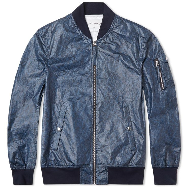 Our Legacy Bomber Jacket (Coated Tie Dye)