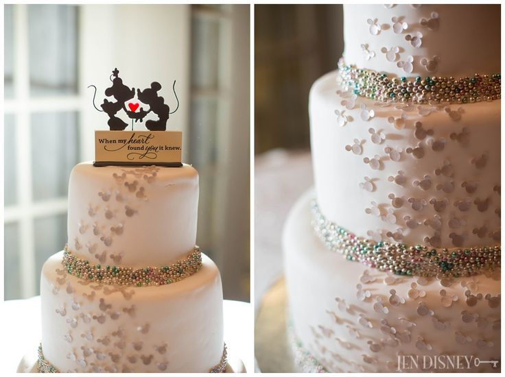 Classy Disney wedding details- Mickey Mouse wedding cake - Jen Disney's Blog » Orange County Wedding and Portrait Photographer