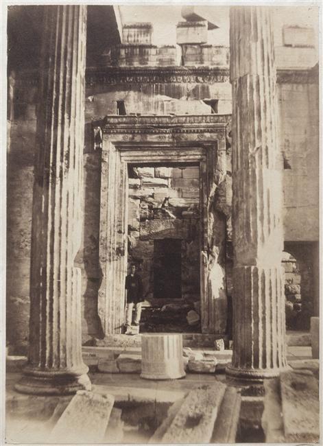 Athènes, l'Erechtéion, 1860 by Philippos Margaritis the first Greek photographer