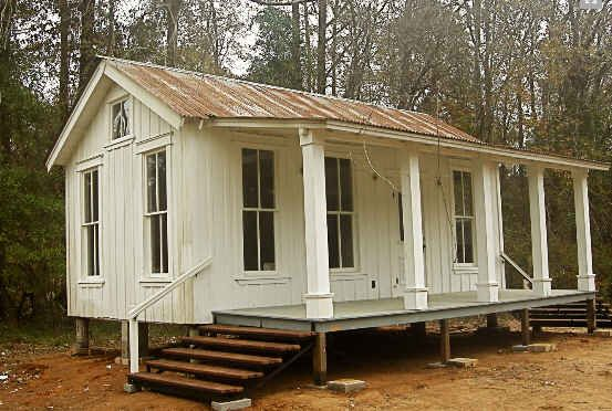 350 sq ft house built from salvaged materials by Tiny Texas Houses