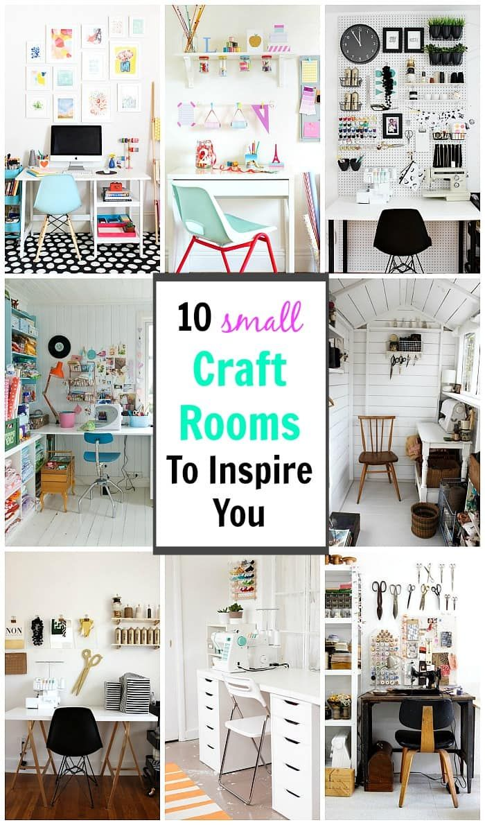 Looking for some inspiration to create your own little crafting nook? These small craft rooms offer up plenty of ideas on creating a space that is both stylish yet functional - even in the tiniest of spaces!