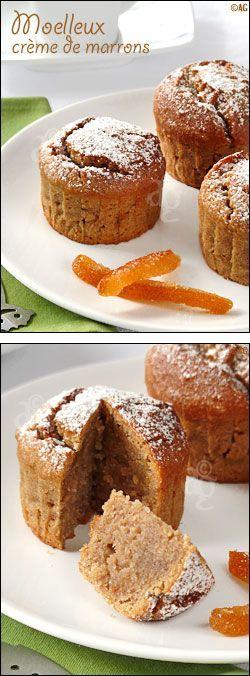 Moelleux crème de marrons, amande et écorces d'orange confite - en remplaçant l'orange confite par un peu d'écorce d'orange