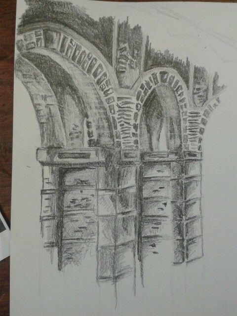 Drawing of the bridge ive studied for my A-level final piece