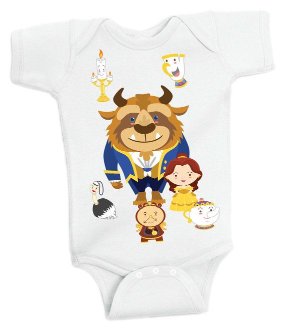 Beauty and the Beast - Buzz Baby One Piece Baby Romper Toy Story Baby grow, Baby Romper Onesie by Retrostate
