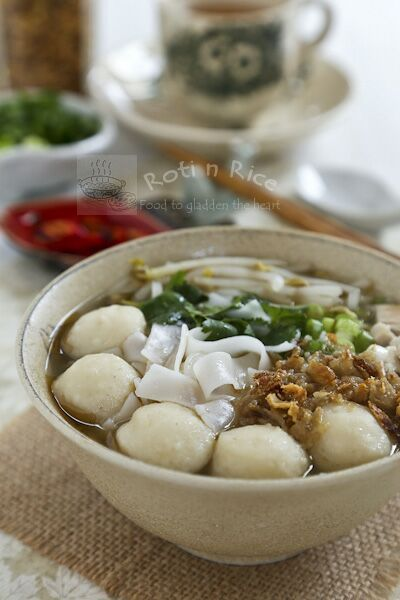Turkey Fish Ball Koay Teow Soup - Roti n Rice