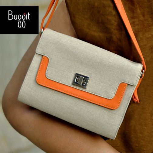 Style up to accentuate any look with this popular &trendy sling bag.  L Alexia Charles Offwhite - Rs. 2,500  Buy now at : http://goo.gl/tDuzr4