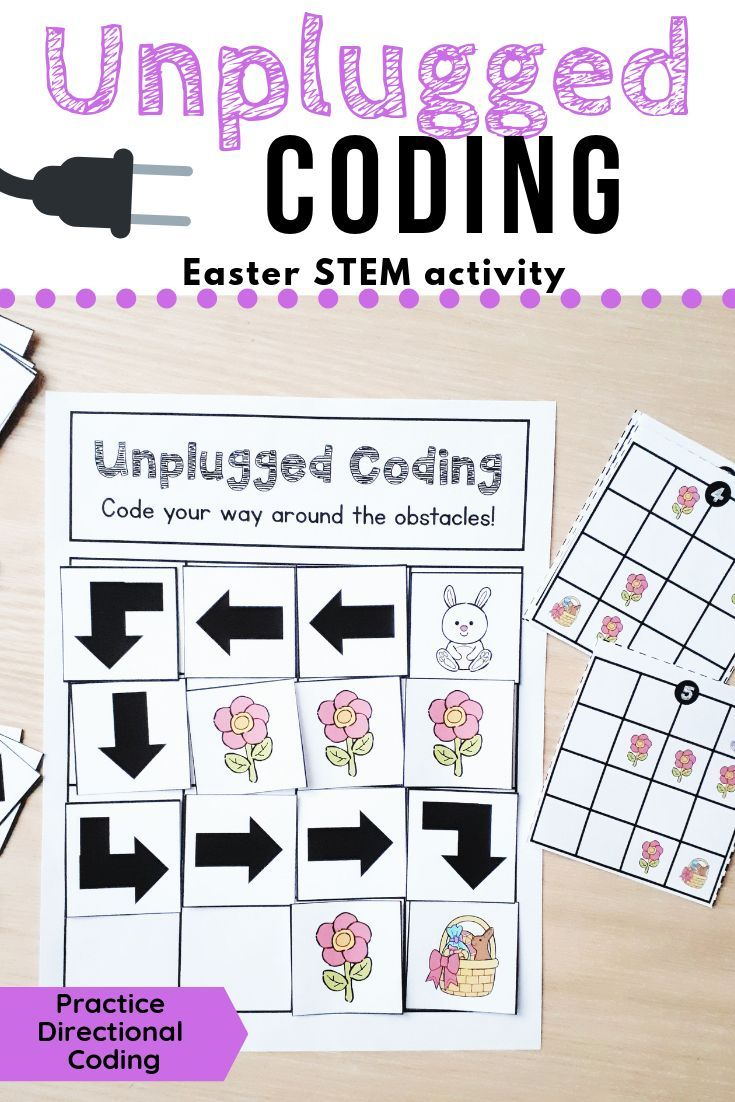 This Easter Set Has Students Code The Bunny To Its Basket And Avoid The Flo Unplugged Coding Activities Elementary Stem Activities Stem Activities Kindergarten [ 1102 x 735 Pixel ]