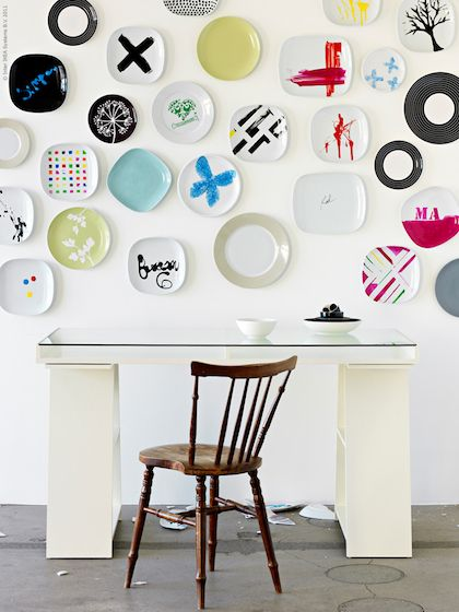 Ikea painted plates DIY