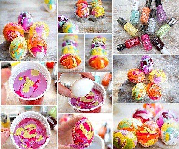 Ostereier färben mit Nagellack!