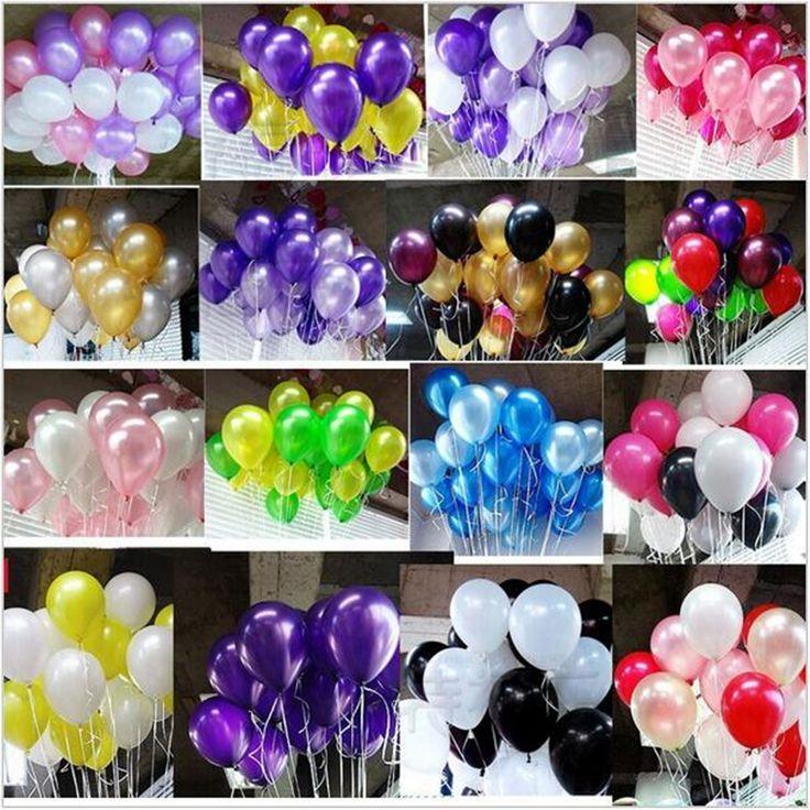 100 sztuk/partia 10 inch1.2g Lateksowe balony Helem balon Okrągły 15 kolory Grube Pearl Wedding Party Urodziny Balony balony