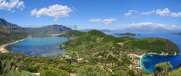 Panoramic view of Vlicho Bay and Desimi Beach....