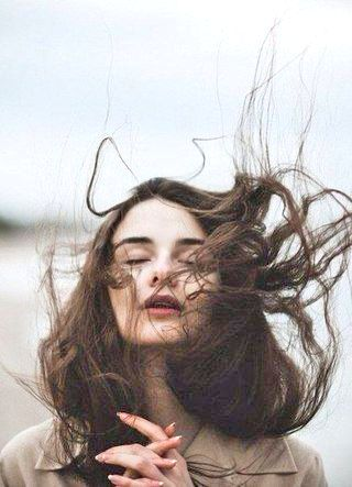 Beautiful windy photography portrait