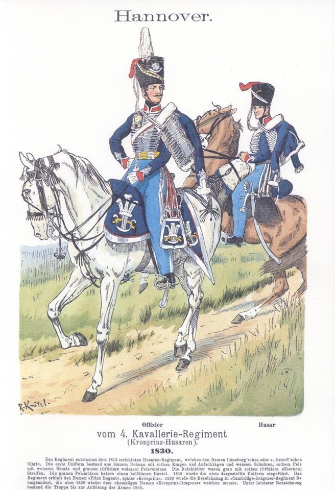 Band V #27.- Hannover. 4. Kavallerie-Regiment (Kronprinz-Husaren). 1830.