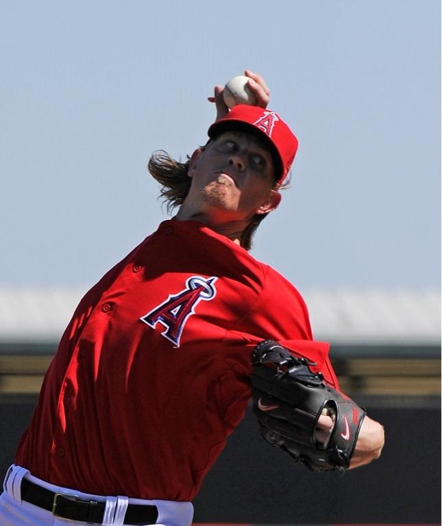 Angels starting pitcher, Jered Weaver.