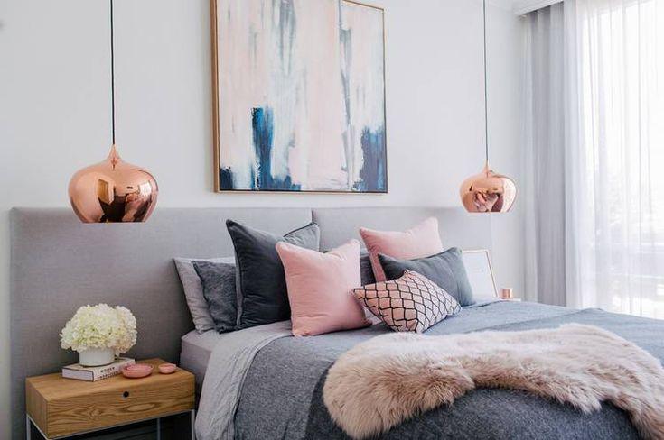 Bedroom Color Tricks For Falling Asleep Faster: pops of pink