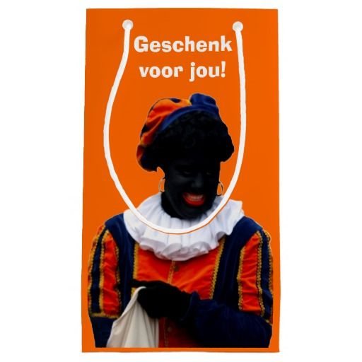 Geschentas Oranje met Zwarte Piet (eigen tekst & evt. aanpassing afbeelding Zwarte Piet).