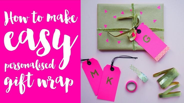 How To Make Personalised Wrapping Paper