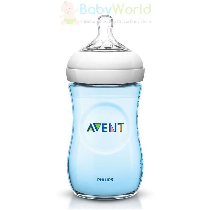 Philips Avent Natural 260ml Feeding Bottle PK1 BLUE ₨ 1,750  For order > http://babyworld.pk/feeding/2495-philips-avent-natural-260ml-feeding-bottle-pk1-blue.html