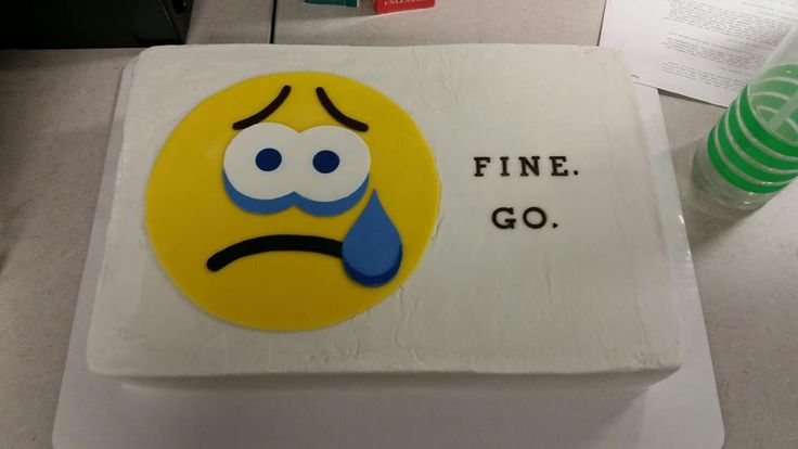 Coworker's farewell cake.  Fine. Go.  Carrot cake and cream cheese frosting.  Sad emoji.