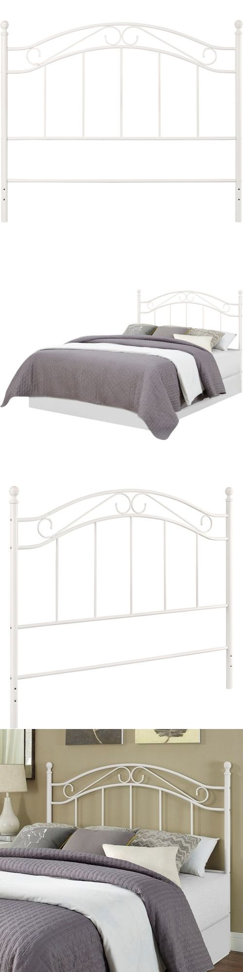 Headboards And Footboards 109064: White Headboard Metal Queen Full Bed Size  Bedroom Furniture Frame Traditional