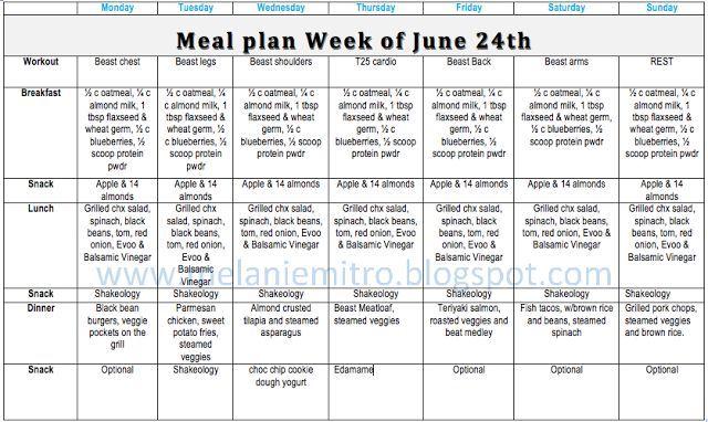Best 25 P90x3 Meal Plan Ideas On Pinterest – Wonderful Image