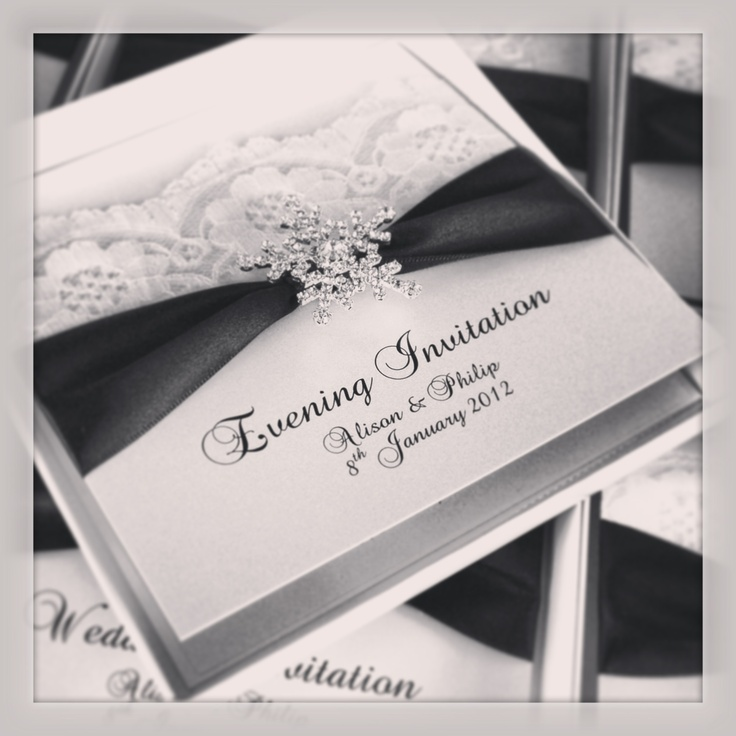 Snowflake Wedding Invitations With Beautiful Ly Crystal Perfect For A Winter Wonderland Themed