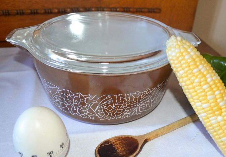 Vintage Pyrex Casserole Dish, Covered Baking Dish, Mid Century, 475-B 2.5 Liter, 1970s,  Brown Woodland, Oven Proof, Retro Cookware by PrettyNiceVintage on Etsy